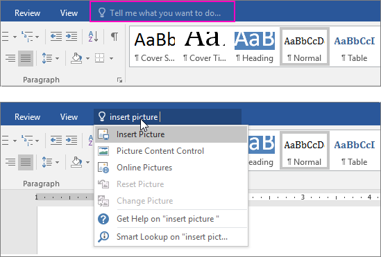 Getting online images in WORD 2016